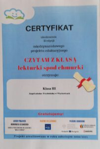 Certyfikat dla klasy III