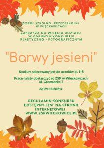 """Gminny konkurs plastyczno -fotograficzny """"Barwy jesieni"""""""