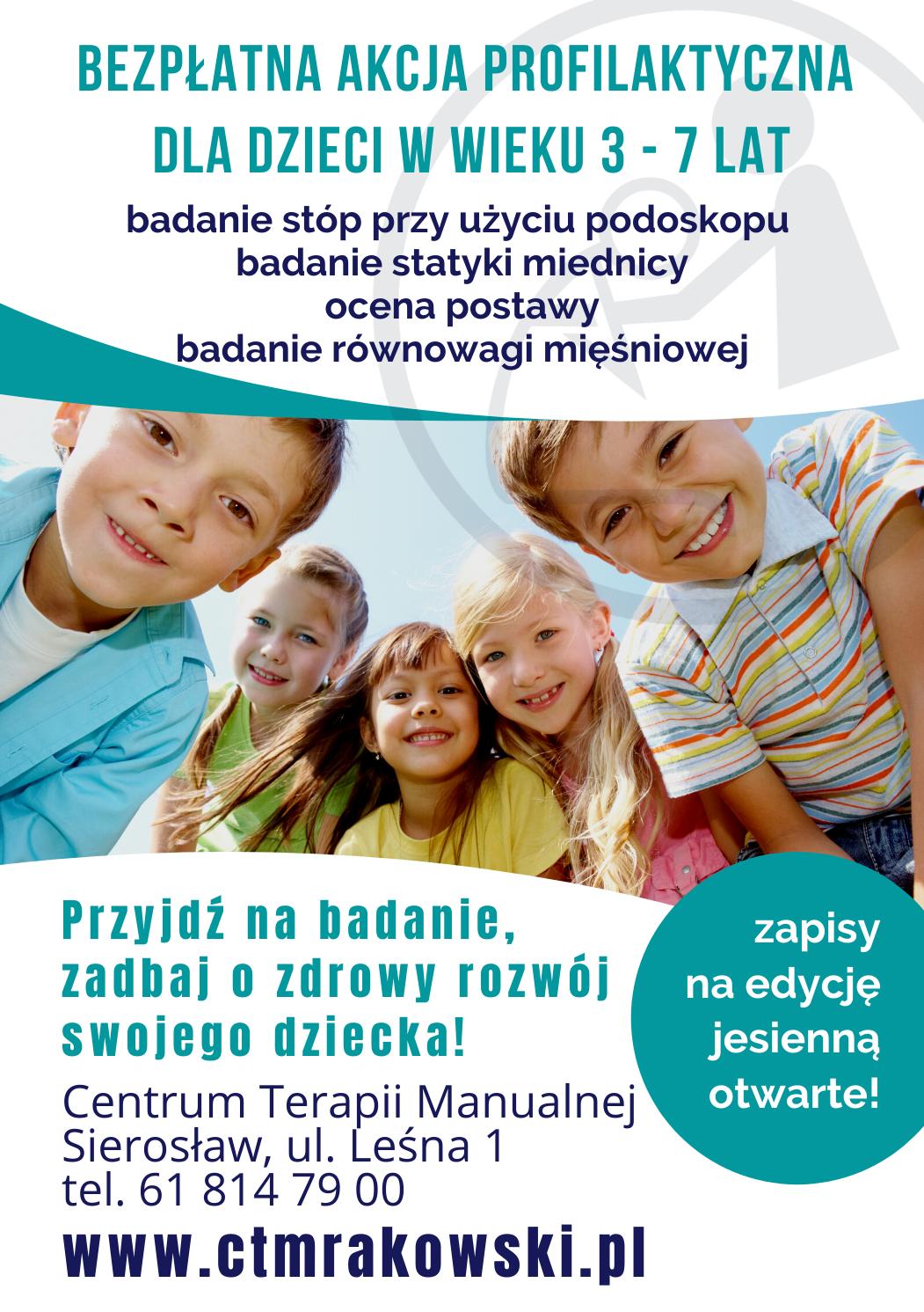 Zapraszamy na jesienną edycję bezpłatnych badań profilaktycznych!